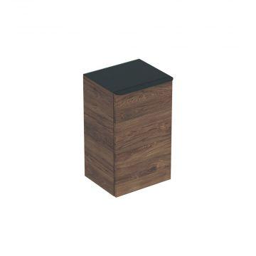 Geberit Smyle Square zijkast 36 cm met 1 deur rechts, noten hickory