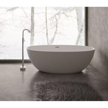 Sub 192 bad vrijstaand 180x80cm met pop up beton grijs, beton grijs