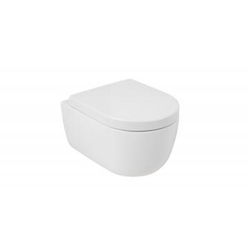 Plieger Nola hangend toilet compact diepspoel Rimless inclusief zitting met softclose en quickrelease, mat wit
