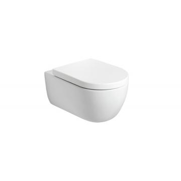 Plieger Nola hangend toilet diepspoel Rimless inclusief zitting met softclose en quickrelease, mat wit