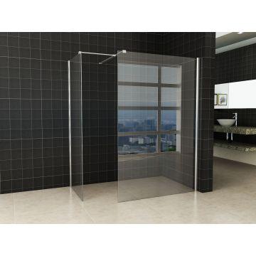 Wiesbaden Comfort inloopopstelling 130x80 cm, chroom