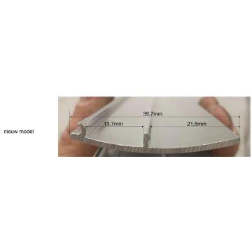 Wiesbaden aluminium afdekstrip 200 cm wandprofiel type 3