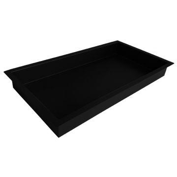 Sub Sunk inbouwnis 30x60x7 cm, matzwart