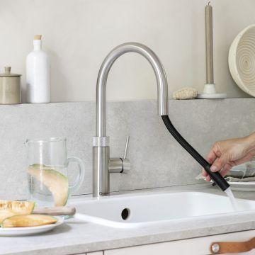 Quooker keukenmengkraan Flex voorsprong uitloop 225 mm, zwart