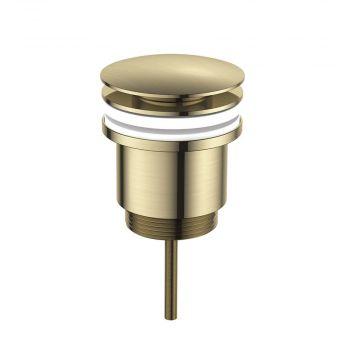 Regn pop-up wastafelafvoerplug, geborsteld goud