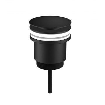 Regn pop-up wastafelafvoerplug, mat zwart