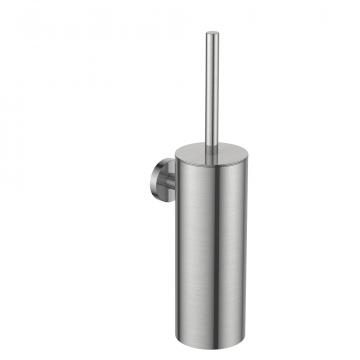 Regn toiletborstel met houder, geborsteld nikkel