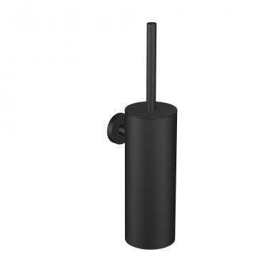 Regn toiletborstel met houder, mat zwart