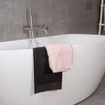 Regn complete thermostatische badinbouwset, geborsteld nikkel