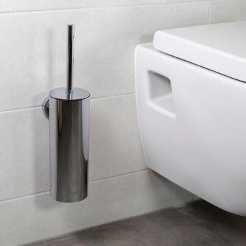 Regn toiletborstel met houder, chroom