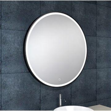 Wiesbaden Maro spiegel rond ø 100 cm met LED verlichting en spiegelverwarming, matzwart
