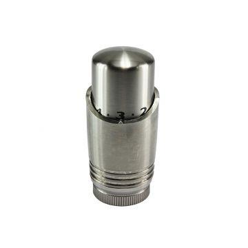 Riko Luxe thermostaatknop M-30, geborsteld RVS