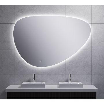 Wiesbaden Uovo spiegel asymmetrisch 150 cm met dimbare LED-verlichting en spiegelverwarming