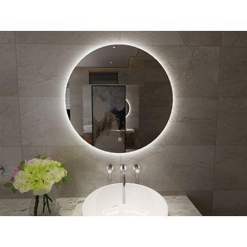 Sub Giro ronde spiegel met LED verlichting, ø 120 cm
