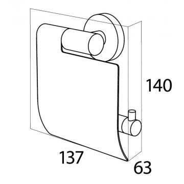 Tiger Boston toiletrolhouder met klep 14 x 13,7 x 14 cm, geborsteld rvs