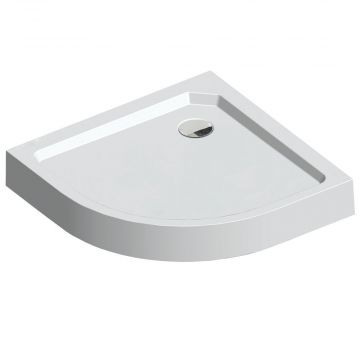 Sealskin Get Wet Fusion douchebak kwartrond opbouw 900x900 mm, wit