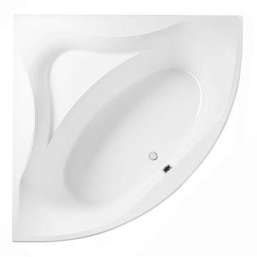 Sealskin Glamour hoekbad 140x140 cm, wit