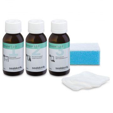Sealskin Sealglas 1-2-3 antikalk verzorgingspakket voor douche- en badwanden