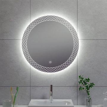 Wiesbaden Deco spiegel met LED-verlichting en spiegelverwarming ø 100 cm