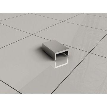 Wiesbaden Slim afdekkapje voor muurprofiel, chroom