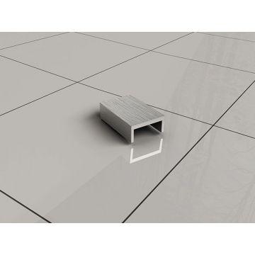 Wiesbaden Slim afdekkapje voor muurprofiel, RVS