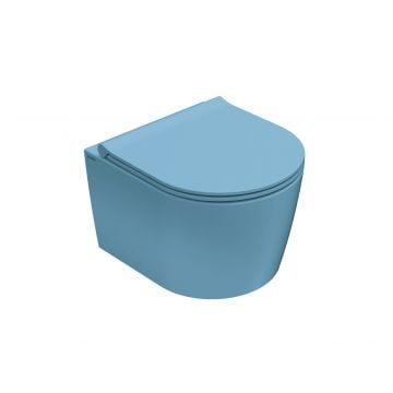 Globo Forty3 hangend toilet compact rimless 33 x 36 x 43 cm, bluette
