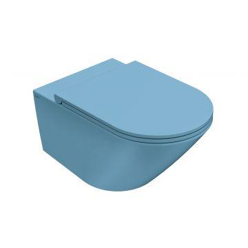 Globo Forty3 hangend toilet rimless 33 x 36 x 57 cm, bluette