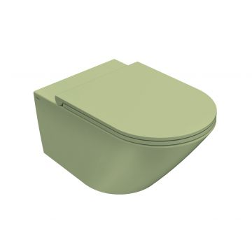 Globo Forty3 hangend toilet rimless 33 x 36 x 57 cm, lime