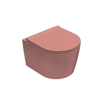 Globo Forty3 hangend toilet compact rimless 33 x 36 x 43 cm, fard
