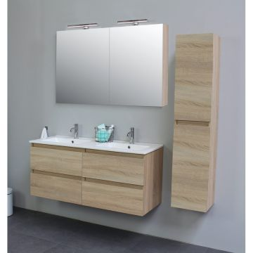 Sub Online zijpanelen voor spiegelkast 60x14x2 cm, eiken