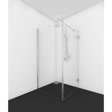 Van Rijn hoekprofiel voor ST01 douchewanden, zwart