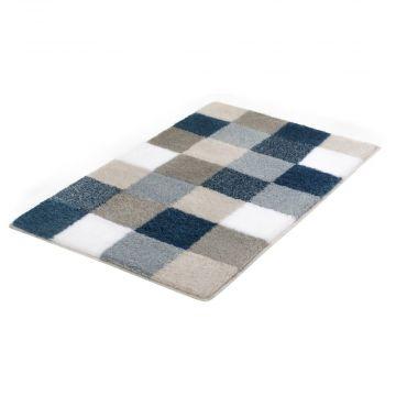 Kleine Wolke Caro badmat 60x105cm, blauw