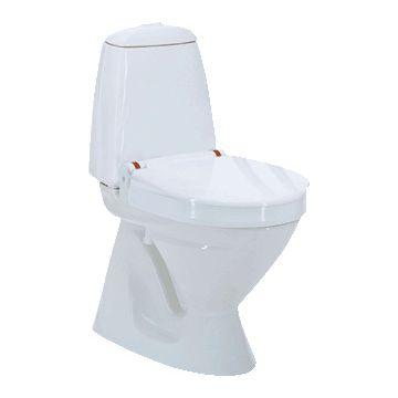 Invacare Aquatec 90000 toiletverhoger + 10cm m. deksel zonder armleuning wit