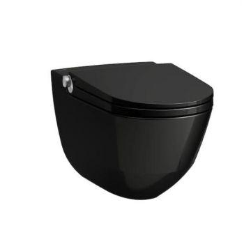 LAUFEN Cleanet Riva douche wc 395x600 mm, glans-zwart