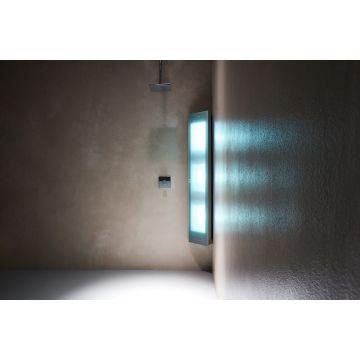 Sunshower Combi full body hoekopbouwmodel UV en infrarood 145x30x20 cm, Organic grey