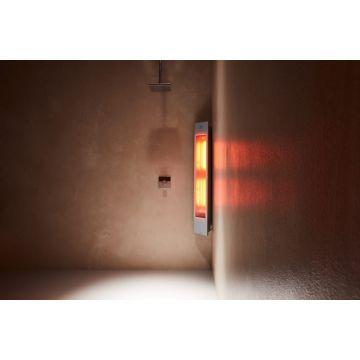 Sunshower Solo full body hoekopbouwmodel infrarood 124x20x18 cm, organic grey