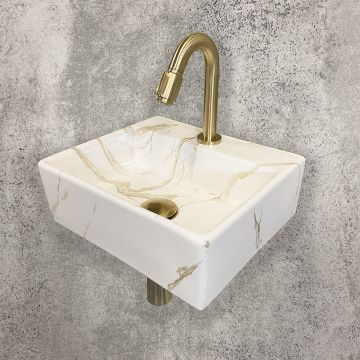 Sub One Pack Leto fontein 33,5x29 cm en Victoria toiletkraan, Carrara