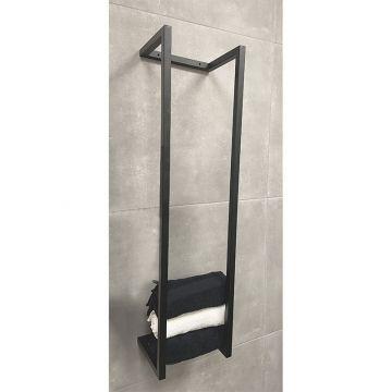 Sub Loft industrieel handdoekrek 95x25x20,5 cm, mat zwart