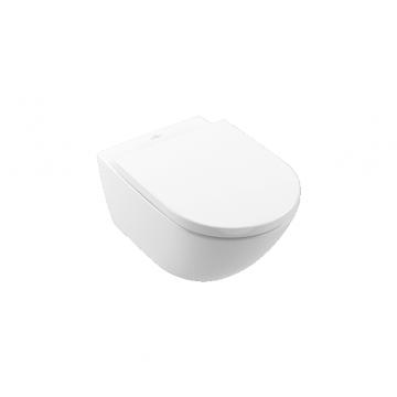Villeroy & Boch Subway 3.0 Rimless hangend toilet met TwistFlush en AntiBac 40 x 41 x 56 cm, wit