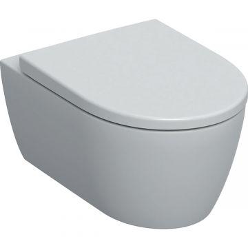 Geberit iCon wc-pack, wandcloset 53 cm met Rimfree en diepspoel, met Softclose- en Quick Release-zitting, wit