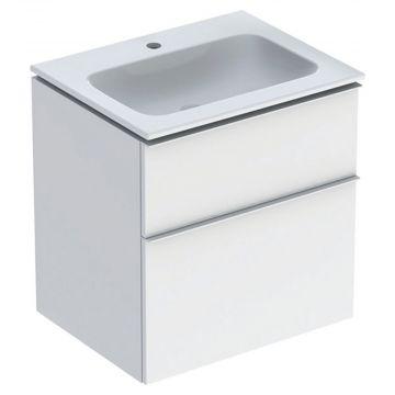 Geberit iCon wastafel 60 cm, met onderkast met 2 laden, wit