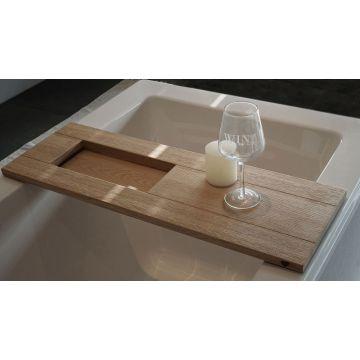 vtwonen Board houten badplank met inleg 78 cm, blank eiken
