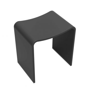 Sub Solid Surface kruk 40 x 30 x 42,5 cm, mat zwart