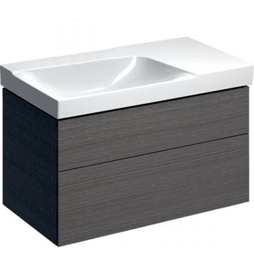Geberit Xeno2 badmeubelset 44 - wastafel met aflegvlak rechts en wastafelonderkast 90 cm