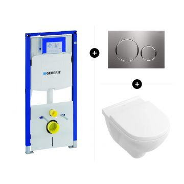 Geberit UP320 toiletset - inclusief Geberit Sigma bedieningsplaat & Villeroy & Boch O.novo CombiPack