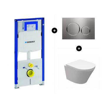 Geberit UP320 toiletset - inclusief Geberit Sigma bedieningsplaat & Duravit Starck 3 toilet pack rimless