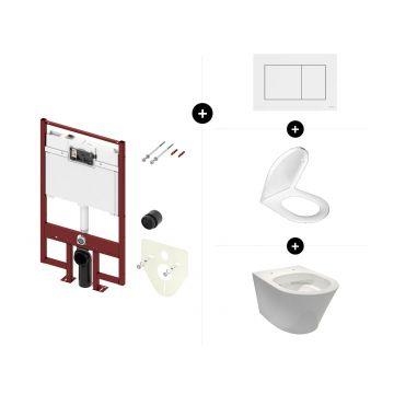 Sub 104 toiletset - inclusief TECE inbouwreservoir met Octa-spoelkast, bedieningspaneel en toiletzitting met softclose en quick release