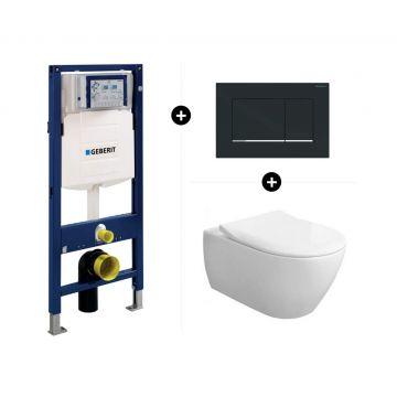 Geberit UP320 toiletset - inclusief Geberit Sigma bedieningsplaat & Villeroy & Boch Subway 2.0 CombiPack CeramicPlus
