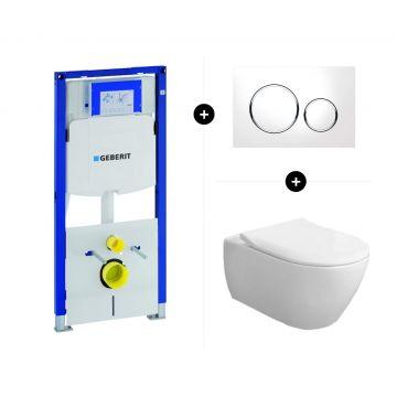 Geberit UP320 toiletset - inclusief Geberit Sigma bedieningsplaat & Villeroy & Boch Subway 2.0 CombiPack