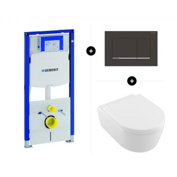 Geberit UP320 toiletset - inclusief Geberit Sigma bedieningsplaat & Villeroy & Boch Avento CombiPack CeramicPlus